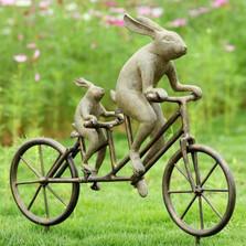 Tandem Bicycle Bunnies Garden Statue | 33862 | SPI Home