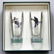 "Duck Beer Glass Set | ""Waterfowl"" | Richard Bishop | 2043WAT"