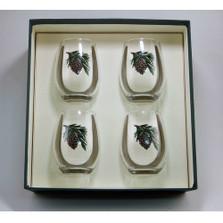 Pine Cone Stemless Wine Glass Set | Richard Bishop | 2079PCO
