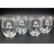 Palm Tree Stemless Wine Glass Set | Richard Bishop | 2079PAL