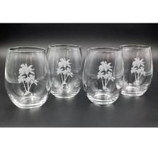 Palm Tree Stemless Wine Glass Set | Richard Bishop | 2079PAL