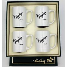 """Duck Porcelain Coffee Mug Set   """"Third Federal Duck Stamp""""   Richard Bishop   5034THI"""