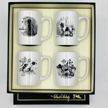"Dog Porcelain Coffee Mug Set | ""Sporting Dogs"" 