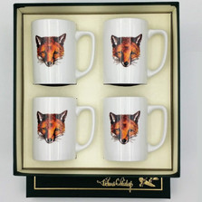 "Fox Porcelain Coffee Mug Set | ""Fox Mask"" 