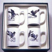 "Duck Porcelain Coffee Mug Set | ""Waterfowl"" 