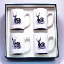 Deer Porcelain Coffee Mug Set | Richard Bishop | 5034DEE