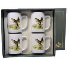 Trout Fish Porcelain Coffee Mug Set | Richard Bishop | 5034TRO