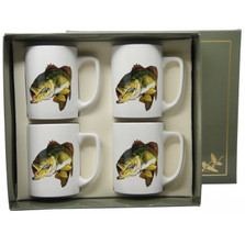 Bass Fish Porcelain Coffee Mug Set | Richard Bishop | 5034BAS
