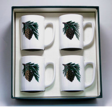 Pine Cone Porcelain Coffee Mug Set | Richard Bishop | 5034PCO