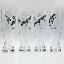 Duck Pilsner Glass Set | Third Federal Duck Stamp | Richard Bishop | 2041THI
