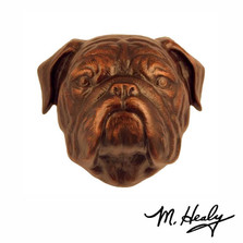 Bulldog Dog Aluminum Door Knocker | MHCDOG14 | Michael Healy