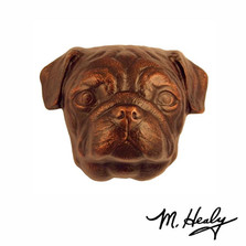 Pug Dog Aluminum Door Knocker | MHCDOG12 | Michael Healy