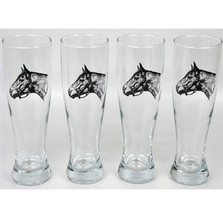 Horse Pilsner Glass Set | Seabiscuit | Richard Bishop | 2041SEA