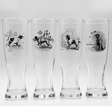 Dog Pilsner Glass Set | Sporting Dogs | Richard Bishop | 2041SPO