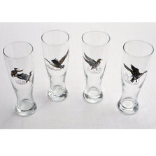Duck Pilsner Glass Set | Waterfowl | Richard Bishop | 2041WAT