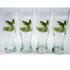 Trout Fish Pilsner Glass Set | Richard Bishop | 2041TRO