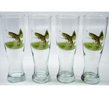 Trout Fish Pilsner Glass Set | Richard Bishop | 2041TRO