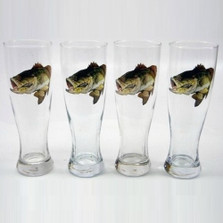 Bass Fish Pilsner Glass Set | Richard Bishop | 2041BAS