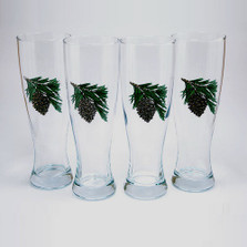 Pine Cone Pilsner Glass Set | Richard Bishop | 2041PCO