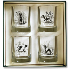 Dog Double Old Fashioned Glass Set | Sporting Dogs | Richard Bishop | 2026SPO