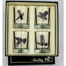 Bird Double Old Fashioned Glass Set | Gamebirds | Richard Bishop | 2026GAM