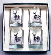 Deer Double Old Fashioned Glass Set | Richard Bishop | 2026DEE