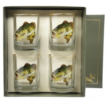 Bass Fish Double Old Fashioned Glass Set | Richard Bishop | 2026BAS