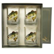 Bass Fish Double Old Fashioned Glass Set | Richard Bishop | 2026BAS