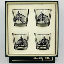 Horse Cocktail Glass Set | Seabiscuit | Richard Bishop | 2025SEA