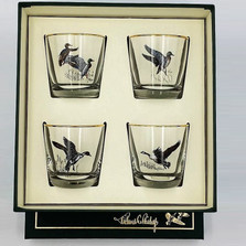 Duck Cocktail Glass Set | Waterfowl | Richard Bishop | 2025WAT
