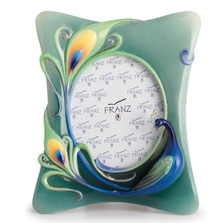 Peacock Sculptured Porcelain Photo Frame | FZ02510 | Franz Collection