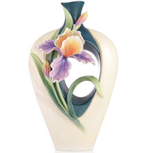 Iris Sculptured Porcelain Vase | Golden Hope | FZ03544 | Franz Collection