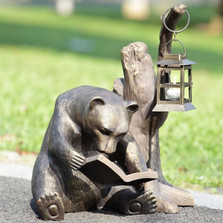 Book Loving Bear Garden Lantern | 33779 | SPI Home