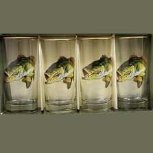 Trout Fish Iced Tea Glass Set | Richard Bishop | 2020BAS
