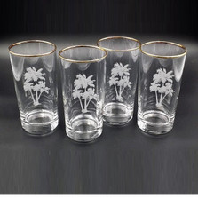 Palm Tree Iced Tea Glass Set | Richard Bishop | 2020PAL
