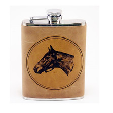 Horse Leather Flask | Seabiscuit | Richard Bishop | 5010SEA
