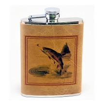 Trout Fish Leather Flask | Fish Flask | Richard Bishop | 5010TRO