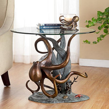Octopus and Seagrass End Table | 34622