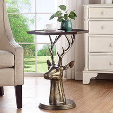 Deer Bust End Table | 34670