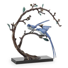 "Blue Bird Pair Sculpture | ""Good Tidings"" 