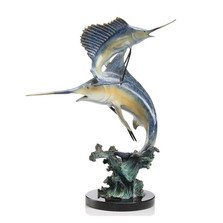 Keys Double Marlin and Sailfish Sculpture | 31524 | SPI Home