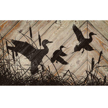 Waterfowl Silhouette Wood Wall Art | Wild Wings | 5209606101