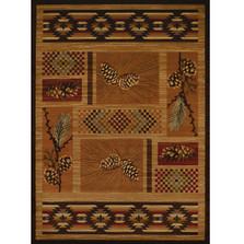 Pine Cone Area Rug El Paso Pine | United Weavers | UW750-05053