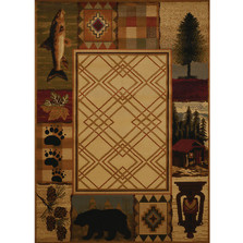 Fish Bear Area Rug Mountain Lake | United Weavers | 750-05117