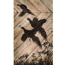 Pheasant Silhouette Wood Wall Art | Wild Wings | 5209606105