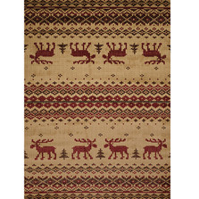 Embroidered Moose Area Rug | United Weavers | UW750-05417
