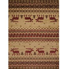 Embroidered Moose Area Rug   United Weavers   UW750-05417