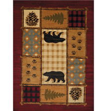 Bear Area Rug Lodge Mosaic | United Weavers | UW750-05775