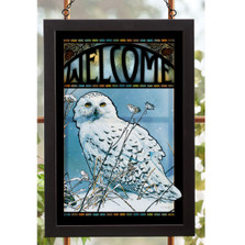 Snowy Owl Stained Glass Art | Wild Wings | 5386498023
