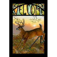 Whitetail Deer Stained Glass Art | Wild Wings | 5386498007